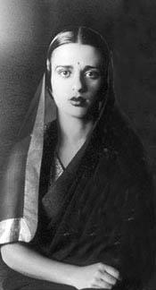 Amrita Sher Gill Wearing a Sari