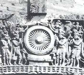 Worship of the Prayer Wheel (Dharmachakra): Sanchi, 2nd - 1st  century B.C.