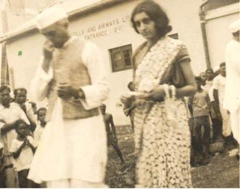 A Young Indira Gandhi Wearing a Sari (1937)