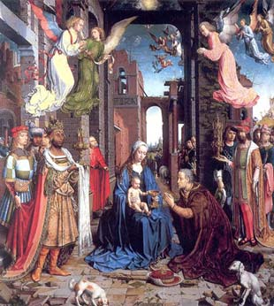 Gossaert. The Adoration of the Kings, c. 1510