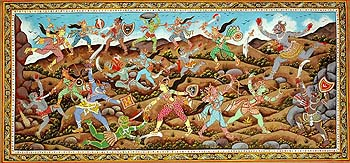 An Episode from Devi Mahatmya (Matrikas Fighting against Demons)
