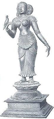 Andal with parrot in hand, Melakkarivalankulam. 16th century.
