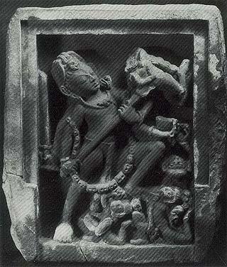 Shiva Spearing the Demon Andhaka (Andhakasuravadhamurti) Madhya Pradesh Eighth century Sandstone