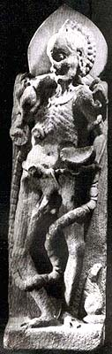 Bhairava in Extreme Emaciation (Atiriktanga Bhairava) Ladol, Gujarat Tenth-eleventh century White Marble