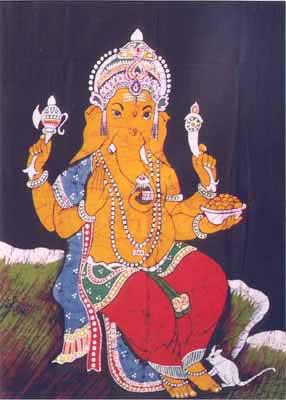 Batik Paintings of Ganesha