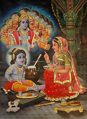 Baby Krishna Shows His Vishvarupa to Mother Yashoda