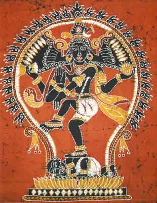 Batik Paintings of Lord Shiva