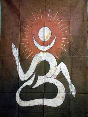 Om - Batik Painting on Cotton