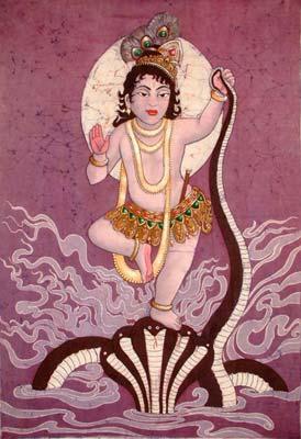 Krishna Vanquishes Kalia