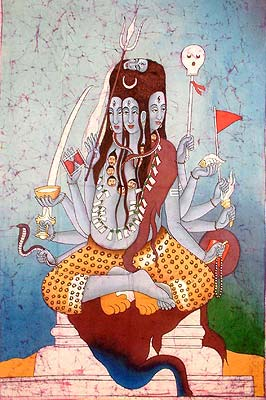 Panchanana or Five-Headed Shiva