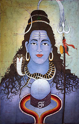Lord Shiva with His Lingam