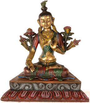 Buddhist Long Life Goddess - White Tara
