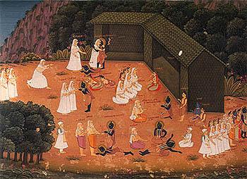 Bharata Meets Rama in Chitrakuta, ca. 1740-50 A.D.
