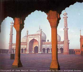 Courtyard of Jama Masjid, Delhi: Islamic architecture
