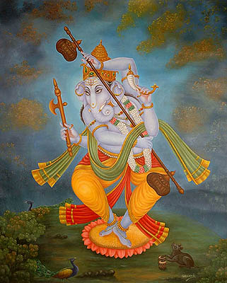 http://www.exoticindiaart.com/artimages/dancing_ganesha_or41.jpg