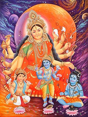 Devi the Mother Goddess and Her Three Children