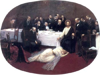 Jean Beraud. Christ in the House of the Pharisee, 1891