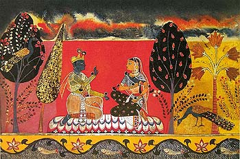 The Earliest Representation of Gita Govinda Available Till Date. (Mewar, ca 1590)
