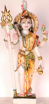 Abhanga posture of Ardhanarishvara