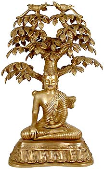 Nirvana Buddha Under the Tree of Life