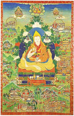 The Fifth Dalai lama and Important Scenes from His Life.