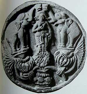 Gajalakshmi From Bharhut and Sanchi, 3rd - 2nd Century B.C.