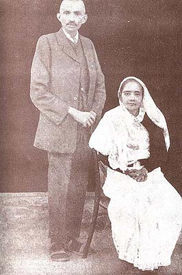 The Mahatma in the Making (With His Better Half (c.a. 1913))