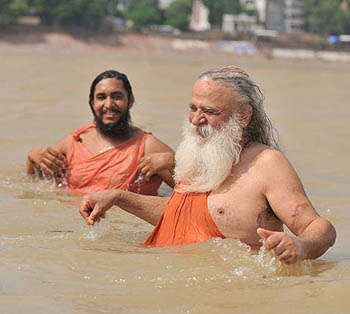 A Refreshing Bathe in the River Ganga