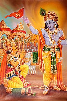 Krishna Delivering Gita Sermon