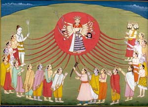 Hindu Goddess Paintings