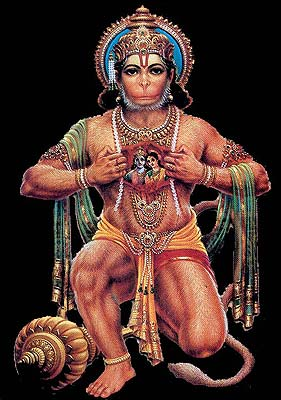 Hanuman Tears Open His Chest