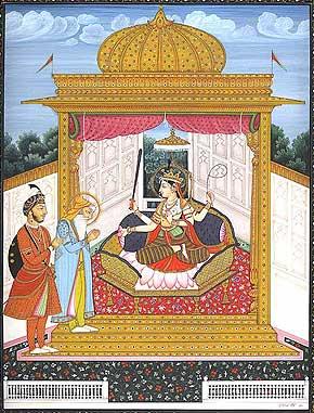 Maharaja Ranjit Singh Worshipping Devi