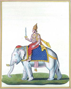 Indra Riding Airavata Holding the Vajra