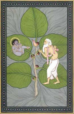 Krishna on a Fig Leaf