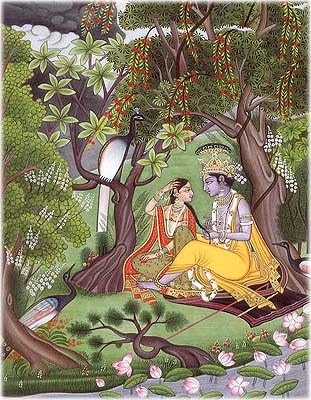 Radha Krishna in the Garden of Love
