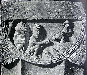 Hermitage with Lotus suspending on sides, Sunga, 2nd century B.C., Mathura