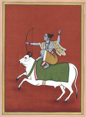 Shiva the Archer on Nandi