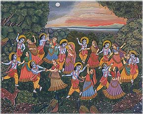 Krishna's Rasa with Gopis on Kartika-Purnima