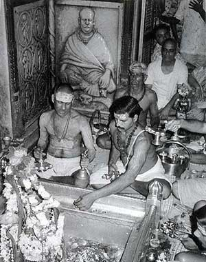 Hindu Priests in Temple