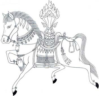 Horse with Jewel