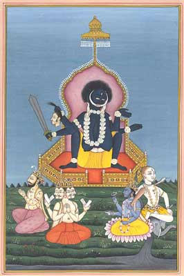 Kali in the Birth-Giving Posture