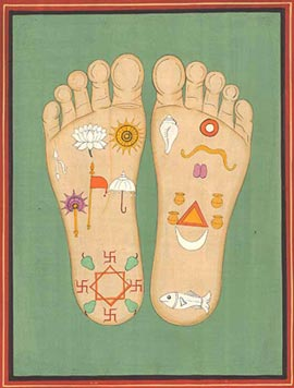 The lotus Footprints of Lord Krsna