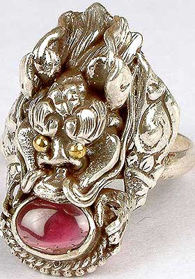 Garnet Dragon Ring