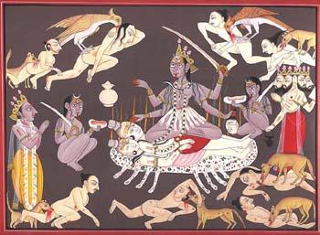 Kali, Mahakali or Shmashana-Kali