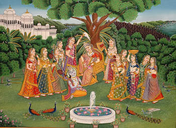 Krishna Worships Radha