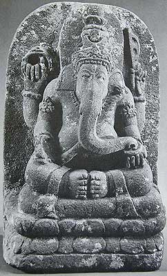 Lotus Seated Ganesha, Central Java, 10th Century