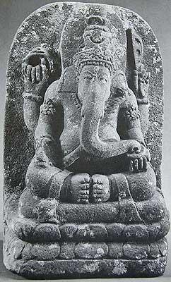 Lotus Seated Ganesha, Central Java, 10th Century