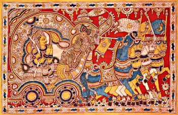 Madhava Delivering the Discourse of Gita to Arjuna