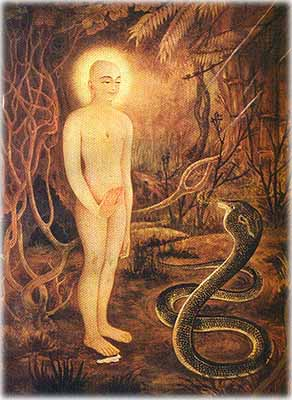 Lord Mahavira with the Venemous Serpent