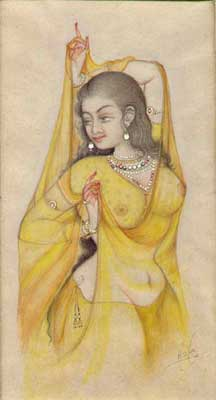 Paintings of Mughal Courtesans